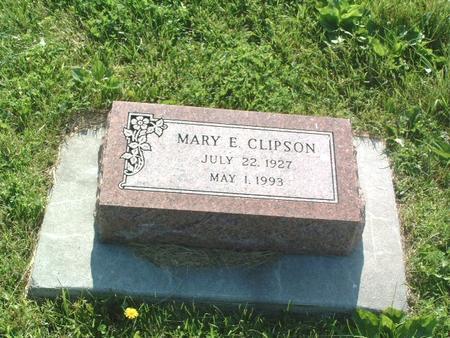 CLIPSON, MARY E. - Mills County, Iowa   MARY E. CLIPSON