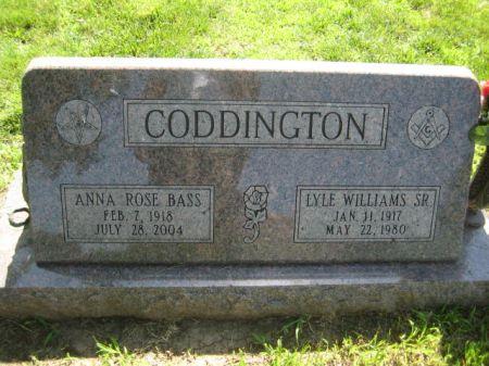CODDINGTON, LYLE WILLIAMS SR. - Mills County, Iowa | LYLE WILLIAMS SR. CODDINGTON