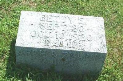 COINER, BETTY E. - Mills County, Iowa | BETTY E. COINER