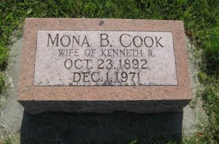 COOK, MONA B. - Mills County, Iowa   MONA B. COOK