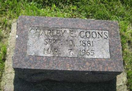 COONS, CHARLEY E. - Mills County, Iowa   CHARLEY E. COONS