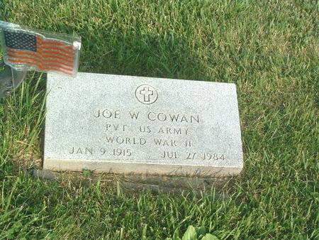 COWAN, JOE W. - Mills County, Iowa | JOE W. COWAN