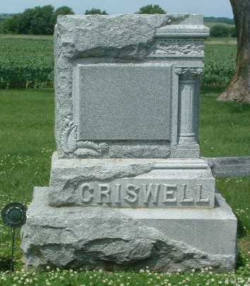 CRISWELL, HEADSTONE - Mills County, Iowa | HEADSTONE CRISWELL