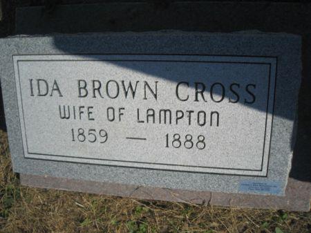 BROWN CROSS, IDA - Mills County, Iowa   IDA BROWN CROSS