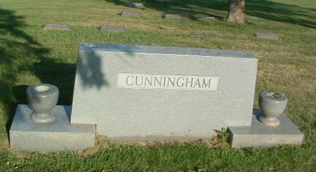 CUNNINGHAM, FAMILY HEADSTONE - Mills County, Iowa   FAMILY HEADSTONE CUNNINGHAM