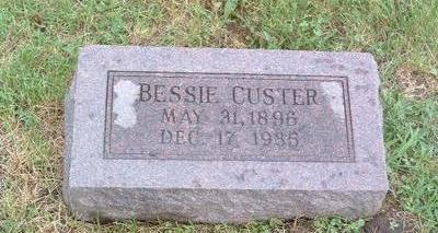 CUSTER, BESSIE - Mills County, Iowa   BESSIE CUSTER
