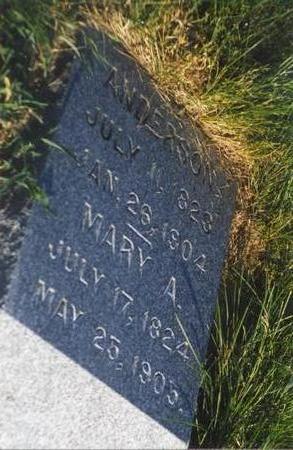 SHIPWASH DAVIS, MARY ANN - Mills County, Iowa | MARY ANN SHIPWASH DAVIS