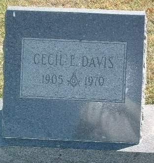 DAVIS, CECIL E. - Mills County, Iowa | CECIL E. DAVIS