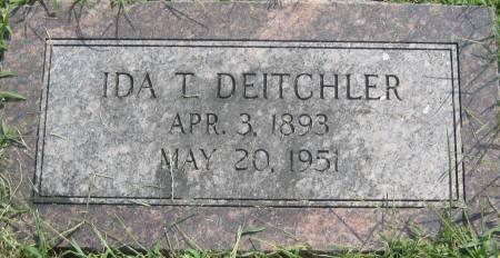 DEITCHLER, IDA T. - Mills County, Iowa | IDA T. DEITCHLER
