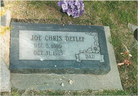 DETLEF, JOE CHRIS - Mills County, Iowa   JOE CHRIS DETLEF