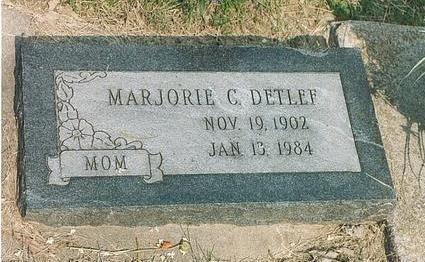 ASMAN DETLEF, MARJORIE CLAIRE - Mills County, Iowa | MARJORIE CLAIRE ASMAN DETLEF