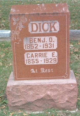DICK, BENJ. O. - Mills County, Iowa | BENJ. O. DICK