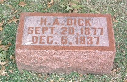 DICK, H.A. - Mills County, Iowa | H.A. DICK