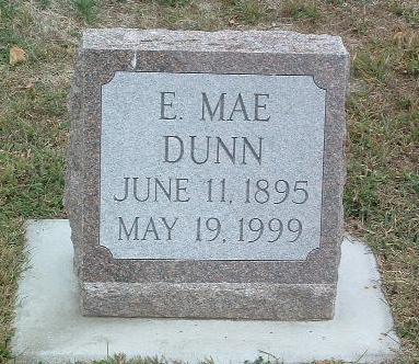 DUNN, E. MAE - Mills County, Iowa   E. MAE DUNN