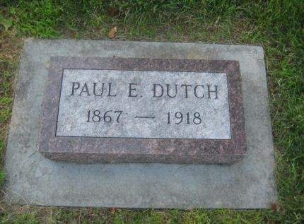 DUTCH, PAUL E. - Mills County, Iowa   PAUL E. DUTCH