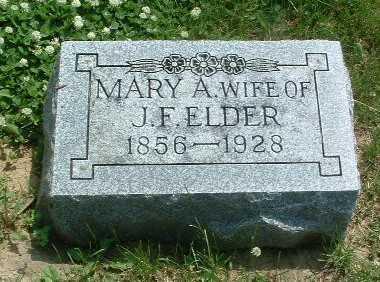 ELDER, MARY A. - Mills County, Iowa | MARY A. ELDER