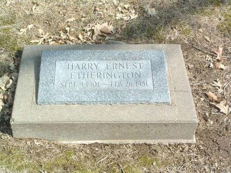 ETHERINGTON, HARRY ERNEST - Mills County, Iowa | HARRY ERNEST ETHERINGTON