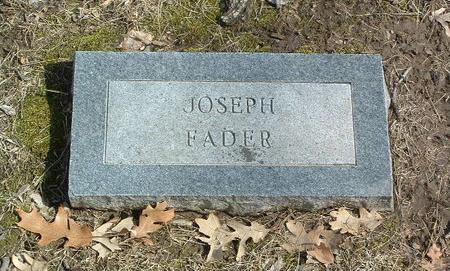 FADER, JOSEPH - Mills County, Iowa | JOSEPH FADER