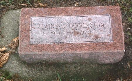 FARRINGTON, BLAINE L. - Mills County, Iowa | BLAINE L. FARRINGTON