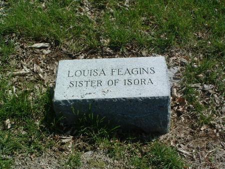FEAGINS, LOUISA - Mills County, Iowa   LOUISA FEAGINS