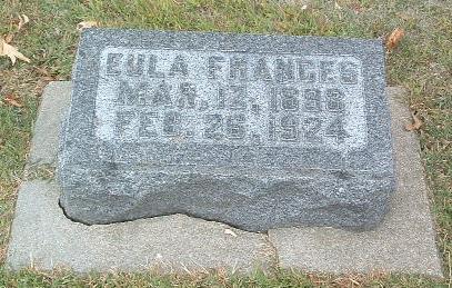 FRANCES, EULA - Mills County, Iowa | EULA FRANCES