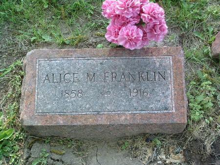 FRANKLIN, ALICE M. - Mills County, Iowa   ALICE M. FRANKLIN