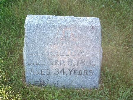 GALLOWAY, MARY - Mills County, Iowa | MARY GALLOWAY