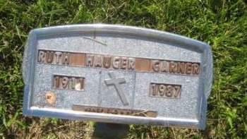HAUGER GARNER, RUTH - Mills County, Iowa | RUTH HAUGER GARNER