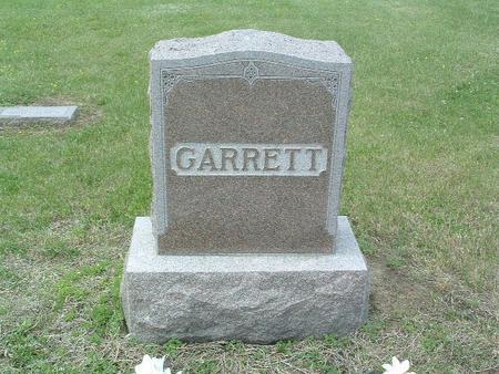 GARRETT, HEADSTONE - Mills County, Iowa | HEADSTONE GARRETT