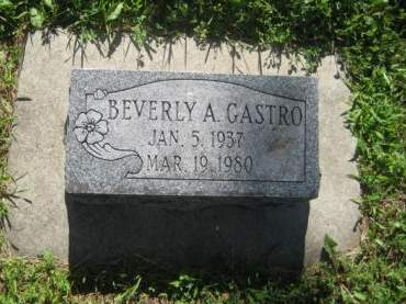 GASTRO, BEVERLY A. - Mills County, Iowa   BEVERLY A. GASTRO