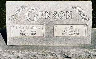 BRADING GENSON, EDNA - Mills County, Iowa | EDNA BRADING GENSON