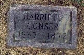 THOMAS GONSER, HARRIETT A. - Mills County, Iowa | HARRIETT A. THOMAS GONSER