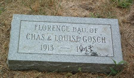 GOSCH, FLORENCE - Mills County, Iowa | FLORENCE GOSCH