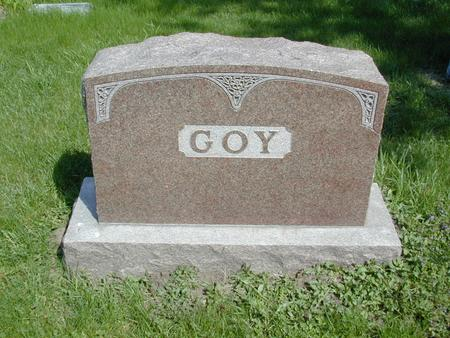 GOY, HEADSTONE - Mills County, Iowa | HEADSTONE GOY