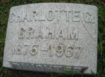 GRAHAM, CHARLOTTE G. - Mills County, Iowa   CHARLOTTE G. GRAHAM