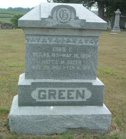 GREEN, HATTIE M. - Mills County, Iowa   HATTIE M. GREEN