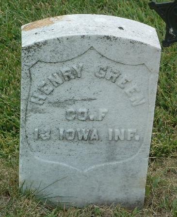 GREEN, HENRY - Mills County, Iowa | HENRY GREEN