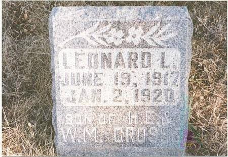 GROSSE, LEONARD LEROY - Mills County, Iowa | LEONARD LEROY GROSSE