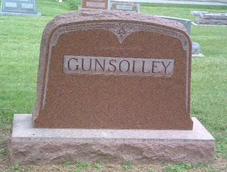 GUNSOLLEY, FAMILY HEADSTONE - Mills County, Iowa | FAMILY HEADSTONE GUNSOLLEY