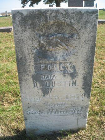 EDGINGTON GUSTIN, MARY POLLY ANN - Mills County, Iowa   MARY POLLY ANN EDGINGTON GUSTIN
