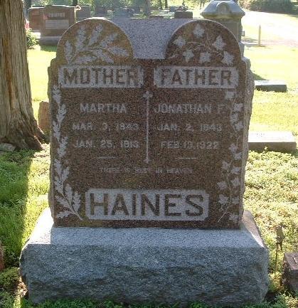 HAINES, JONATHAN F. - Mills County, Iowa | JONATHAN F. HAINES