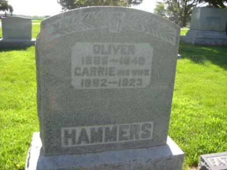 HAMMERS, CARRIE - Mills County, Iowa   CARRIE HAMMERS