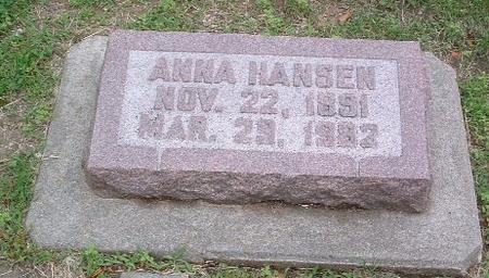 HANSEN, ANNA - Mills County, Iowa | ANNA HANSEN