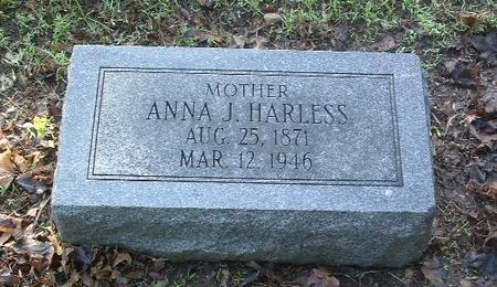 HARLESS, ANNA J. - Mills County, Iowa   ANNA J. HARLESS
