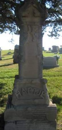 HARTJE, MONUMENT  - Mills County, Iowa   MONUMENT  HARTJE