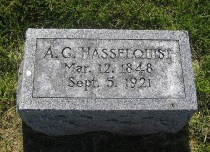 HASSELQUIST, A. G. - Mills County, Iowa   A. G. HASSELQUIST