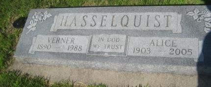 HASSELQUIST, VERNER - Mills County, Iowa | VERNER HASSELQUIST