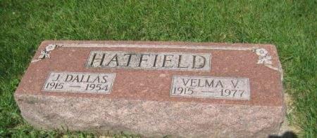 HATFIELD, VELMA V. - Mills County, Iowa   VELMA V. HATFIELD
