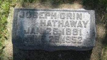 HATHAWAY, JOSEPH ORIN - Mills County, Iowa   JOSEPH ORIN HATHAWAY