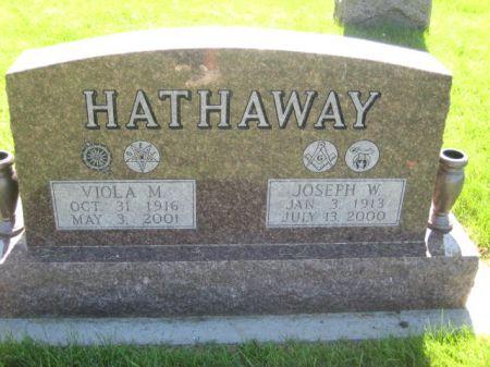 HATHAWAY, JOSEPH W. - Mills County, Iowa   JOSEPH W. HATHAWAY